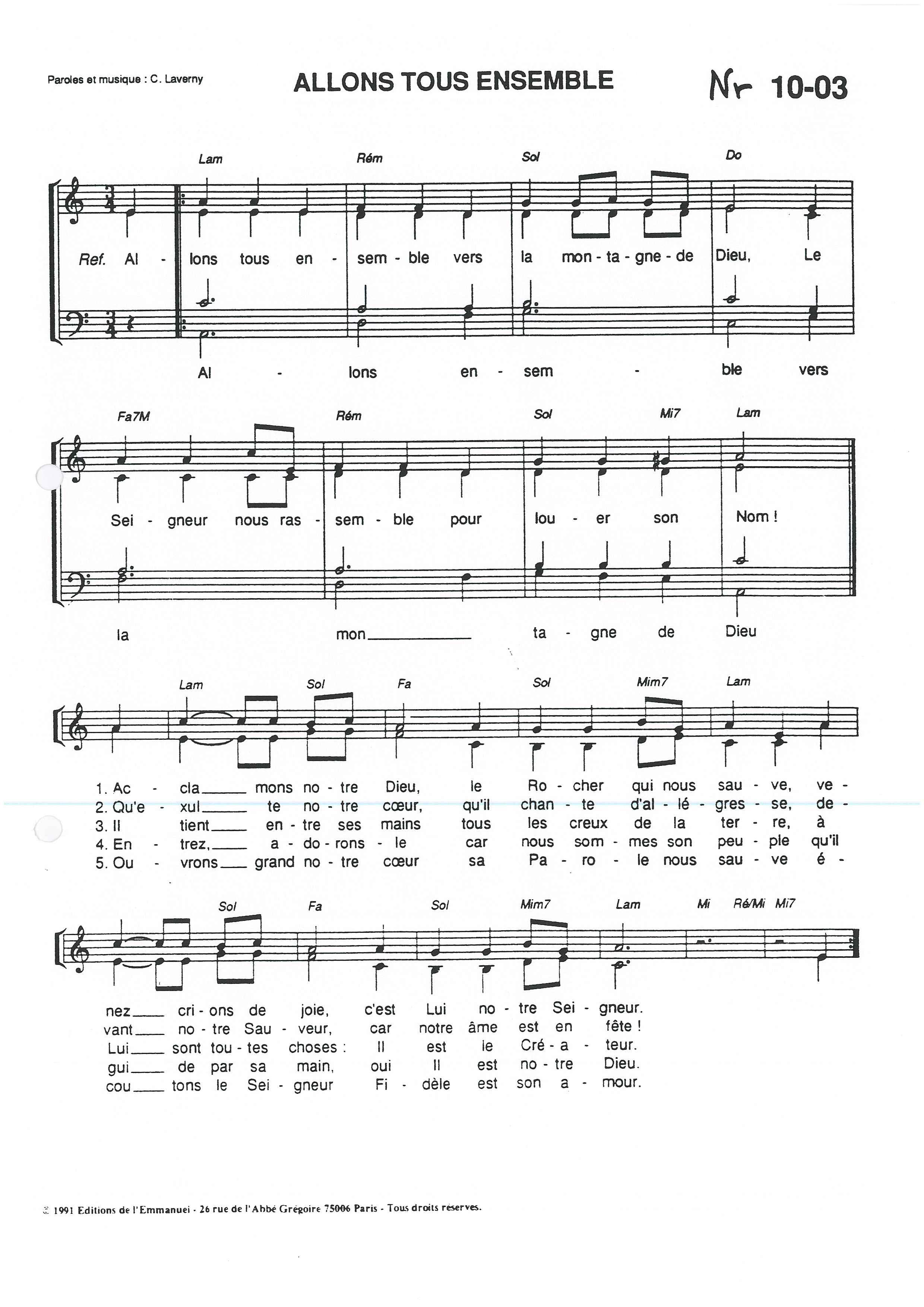 partition chant je veux voir dieu